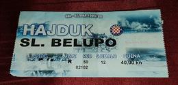 NK HAJDUK- NK SLAVEN BELUPO KOPRIVNICA, CROATIAN FIRST DIVISION FOOTBALL MATCH TICKET - Match Tickets