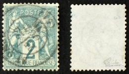 N° 62 2c SAGE OBLIT NsousB Oblit TB Cote 340€ Signé Calves - 1876-1878 Sage (Type I)