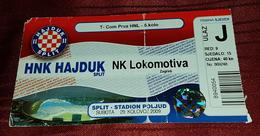 NK HAJDUK- NK LOKOMOTIVA, CROATIAN FIRST DIVISION, FOOTBALL MATCH TICKET - Match Tickets