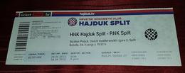 NK HAJDUK- RNK SPLIT, CROATIAN FIRST DIVISION, FOOTBALL MATCH TICKET- UNUSED - Match Tickets