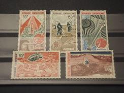 CENTRAFRICAINE - P.A. 1973 APOLLO XVII  5 Valori - NUOVI(++) - Repubblica Centroafricana
