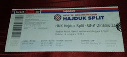 NK HAJDUK- GNK DINAMO, CROATIAN FIRST DIVISION, FOOTBALL MATCH TICKET - Match Tickets