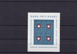 1971.  Mi: Bl. 21**  Naba Basel - Blocs & Feuillets
