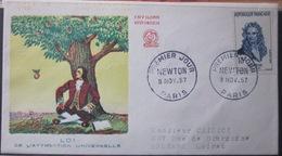Enveloppe FDC 221 - 1957 - Newton - YT 1136 - France