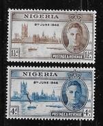 NIGERIA 1946  MNH, # 71-2  MNH - Nigeria (1961-...)