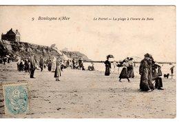 62 - PAS DE CALAIS - CPA BOULOGNE SUR MER - LE PORTEL - PLAGE A L'HEURE DU BAIN - VERS 1910 - - Boulogne Sur Mer