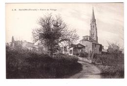 33 Bassens Entrée Du Village Cpa Carte Non Voyagée - Frankrijk