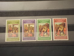 ST. CHRISTOPHER N.A. -1969 QUADRI NATALE  4  VALORI - NUOVI(++) - St.Kitts E Nevis ( 1983-...)