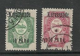 RUSSLAND RUSSIA 1909/10 Levant Levante KERASSUNDE Michel 40 - 41 VI O