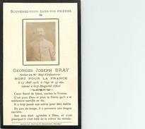 GEORGES JOSEPH BRAY SOLDAT DU 98° REGIMENT D'INFANTERIE - TUE LE 15 AOUT 1918 - SERY MAGNEVAL (OISE) - CARTE IN MEMORIAM - Guerra 1914-18
