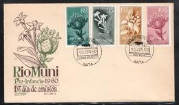 Rio Muni 1960**, Jugendmarken: Pflanzen / Rio Muni 1960, MNH, Youth Stamps: Plants - Pflanzen Und Botanik