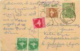 Inde India Entier Postal Stationary Tigre - India