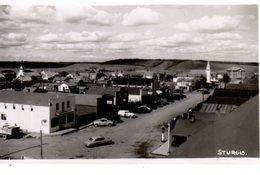 STURGIS, Manitoba, Canada, BEV Of Main Street, 1940's RPPC - Other