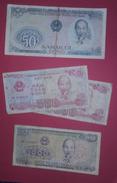 VIETNAM LOT De 4 Billets Ho Chi Minh - Vietnam