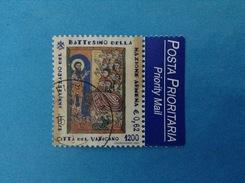 2001 VATICANO FRANCOBOLLO USATO STAMP USED - BATTESIMO NAZIONE ARMENA 0,62 - - Vaticano