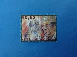 2003 VATICANO FRANCOBOLLO USATO STAMP USED - VIAGGI PAPA GIOVANNI PAOLO II IN BULGARIA E AZERBAIGIAN 0,62 - - Vaticano