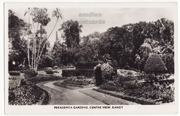CEYLON, KANDY, PERADEMYA GARDENS CENTRE VIEW C1940s-50s RPPC Postcard - CEYLAN - SRI LANKA - Sri Lanka (Ceylon)