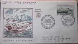 Enveloppe FDC 246 - Joute Nautique - Givors-  1958 - YT 1162 - Sport - Covers & Documents