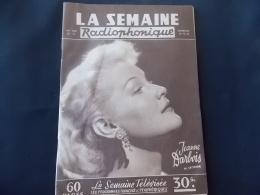 La Semaine Radiophonique 1956 N 51 Jeanne Darbois - Télévision