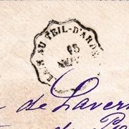 Lettre Cachet Convoyeur Ligne ALAIS AU TEIL D'ARDECHE Timbre Type Sage Saint Jean De Maruéjols Gard - 1898-1900 Sage (Type III)