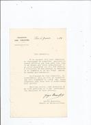 GEORGES BONNEFOUS (PARIS 1867 1956) HOMME POLITIQUE FRANCAIS DEPUTE MINISTRE DU COMMERCE TAPUSCRIT SIGNE 1930 - Autographes