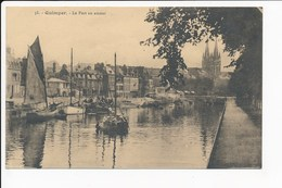 Carte De Quimper  Le Port En Amont   ( Recto Verso ) - Quimper