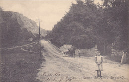 Engis - Route De Neuville-en-Condroz (animée, Attelage Pierres De La Carrière ? Précurseur) - Engis