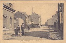 Grace Berleur - Rue De L'Hôtel Communal (animée, 1923) - Grâce-Hollogne