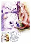 Carte Maximum De Monaco - Parc National Du Mercantour - Hermine (22-05-1986) - Cartes-Maximum (CM)