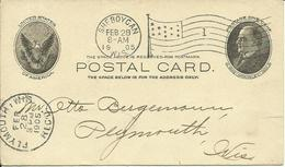 1905  Postal Card From Sheboycan, Wis. To Plymouth, Wis.