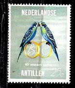 ANTILLES NEERLANDAISES  355** 25c Gris Et Polychrome Mariage De La Princesse Béatrix