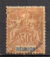 Col3 :  Reunion : N° 40 Oblitéré  , Cote : 13,00€ - Oblitérés