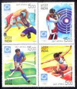 India, 2004, Used Stamps, Olympics, Athens, Se-tenant, Hockey, Wrestling, Shooting, Athletics, Sports, Games, Setenants. - India
