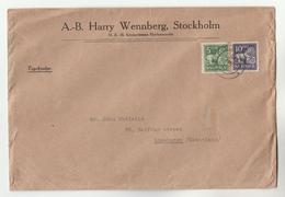 1930 SWEDEN COVER Wennberg H.K.H Kronprinsens Hovleverantor , 5o 10o Lion Stamps To GB Lions Royalty - Sweden