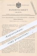 Original Patent - Julius Braunschild , J. Kirchhöfer , München , 1899 , Petroleum - Glühlichtbrenner   Brenner , Licht ! - Historische Dokumente