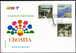 Croatia Zagreb 1994 / 150 Years Of Croatian Tourism / Plitvice, Kornati, Krka - Holidays & Tourism