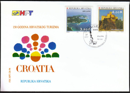 Croatia Zagreb 1994 / 150 Years Of Croatian Tourism / Brijuni, Trakoscan Castle / FDC - Holidays & Tourism