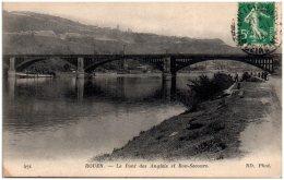 76 ROUEN - Le Pont Des Anglais Et Bon-Secours  (Recto/Verso) - Rouen