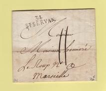 St Servan - 34 - Ille Et Vilaine - Courrier De 1815 - Marcophilie (Lettres)