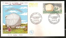 FRANCE ENVELOPPE 1ER JOUR - TELECOMMUNICATIONS SPATIALES - 29 SEPTEMBRE 1962 - FDC