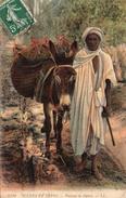 Algérie.. Animée Marchand De Dattes âne Scènes Et Types - Algérie