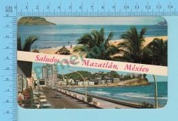 Saludos Desde Nazatlan México, Multi-vue Used In 1968 - 2 Scans - Souvenir De...