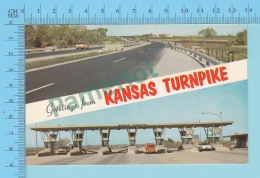 USA Multi-vues, Greeting From Kansas Turnpike - 2 Scans - Souvenir De...