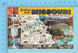 USA Multi-vues, Greeting From Missouri The Show Me State, 10 Views - 2 Scans - Souvenir De...