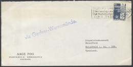 B1447 Denmark Dänemark Brief In DDR 1966 Nebenstempel Via Gedser-Warnemünde Stempel Kopenhagen Schwarzenberg - Dänemark