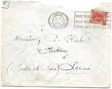 LF 942  Enveloppe De Nice De 1936 Timbre N°325 - Poststempel (Briefe)