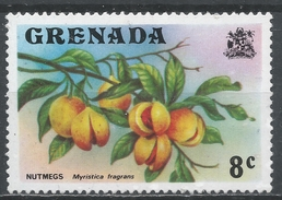 Grenada 1975. Scott #589 (MNH) Nutmeg Branch, Fruit * - Grenade (1974-...)