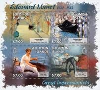 SOLOMON ISLANDS 2013 SHEET EDOUARD MANET ART PAINTINGS ARTE PINTURAS Slm13207a - Salomon (Iles 1978-...)