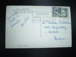 CP Pour ESPAGNE TP YT 971 EDITION ET RELIURE 30F OBL.MEC.3-9-1955 LOURDES (65 HAUTES PYRENEES) - Marcophilie (Lettres)