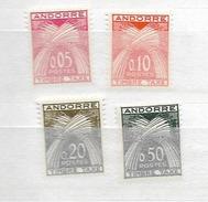 1961 MNH Andorra, Taxe, Postfris**